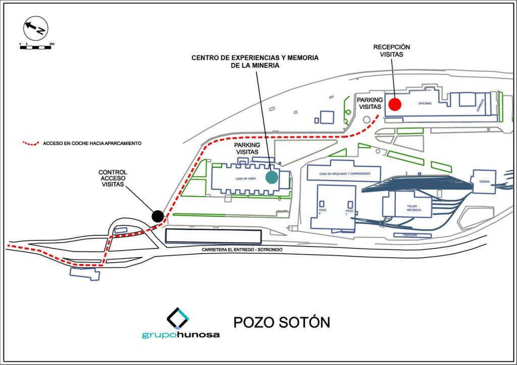 Plano de situación del Pozo Sotón (HUNOSA)